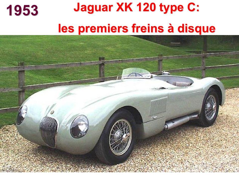 1953 Jaguar XK 120 type C: les premiers freins à disque