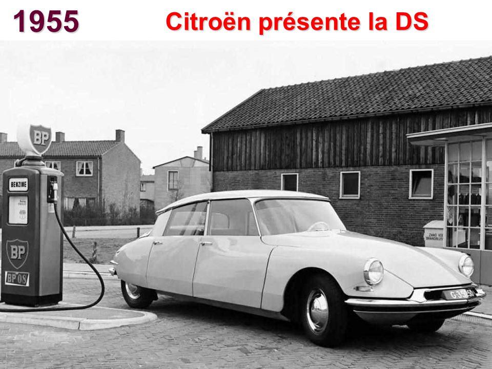 1955 Citroën présente la DS