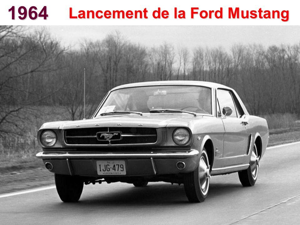 1964 Lancement de la Ford Mustang