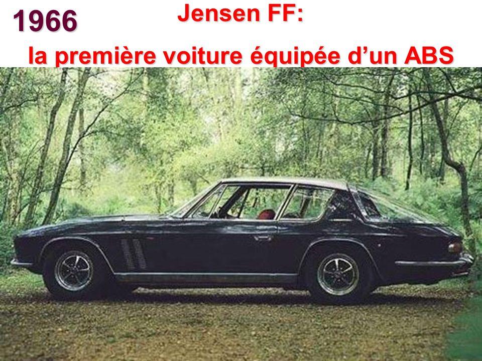 1966 Jensen FF: la première voiture équipée dun ABS