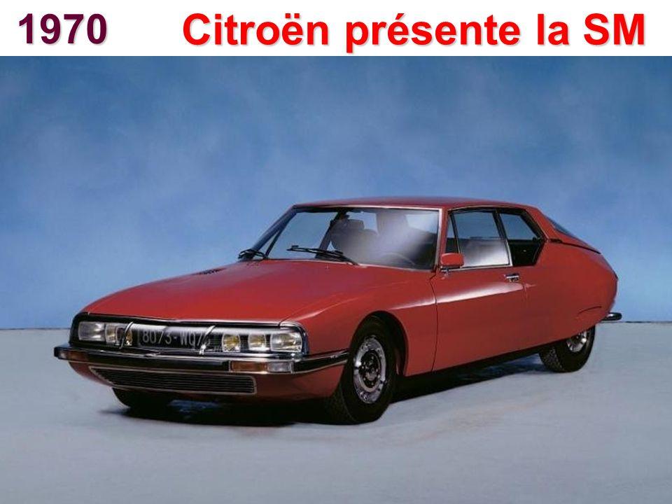 1970 Citroën présente la SM