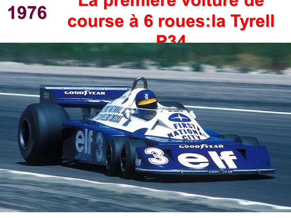 1976 La première voiture de course à 6 roues:la Tyrell P34