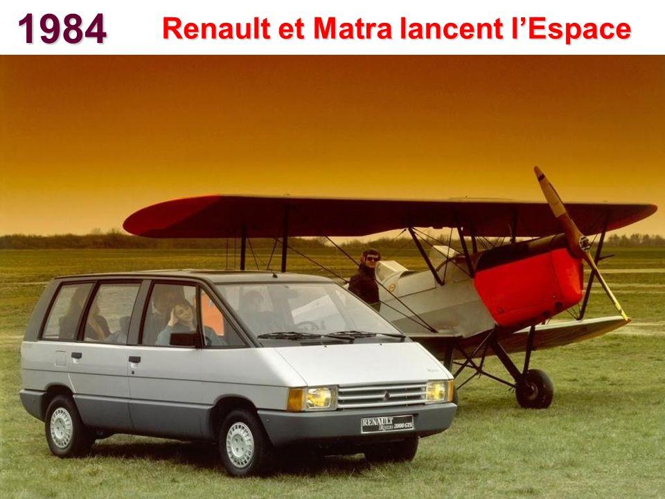 1984 Renault et Matra lancent lEspace