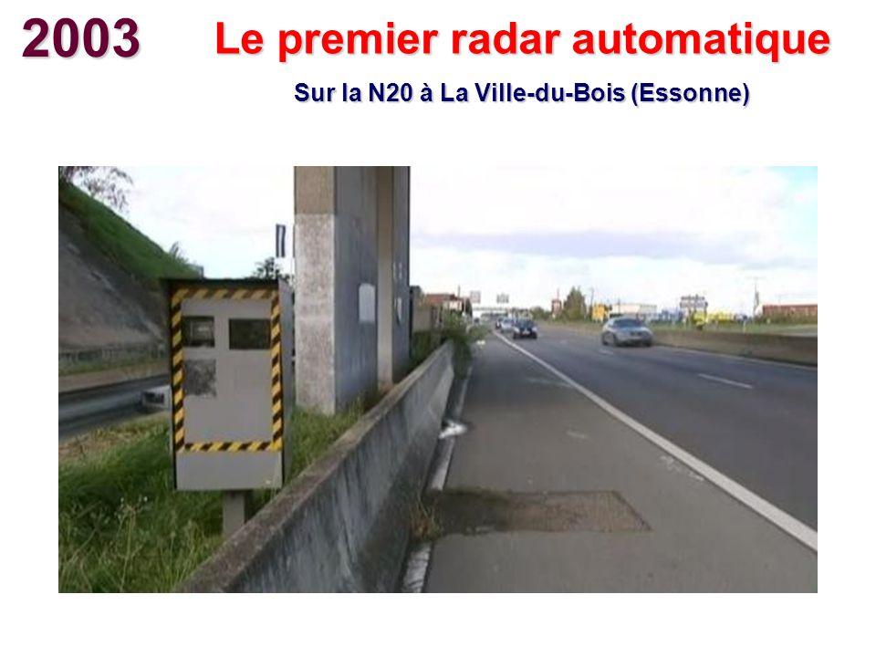 2003 Le premier radar automatique Sur la N20 à La Ville-du-Bois (Essonne)