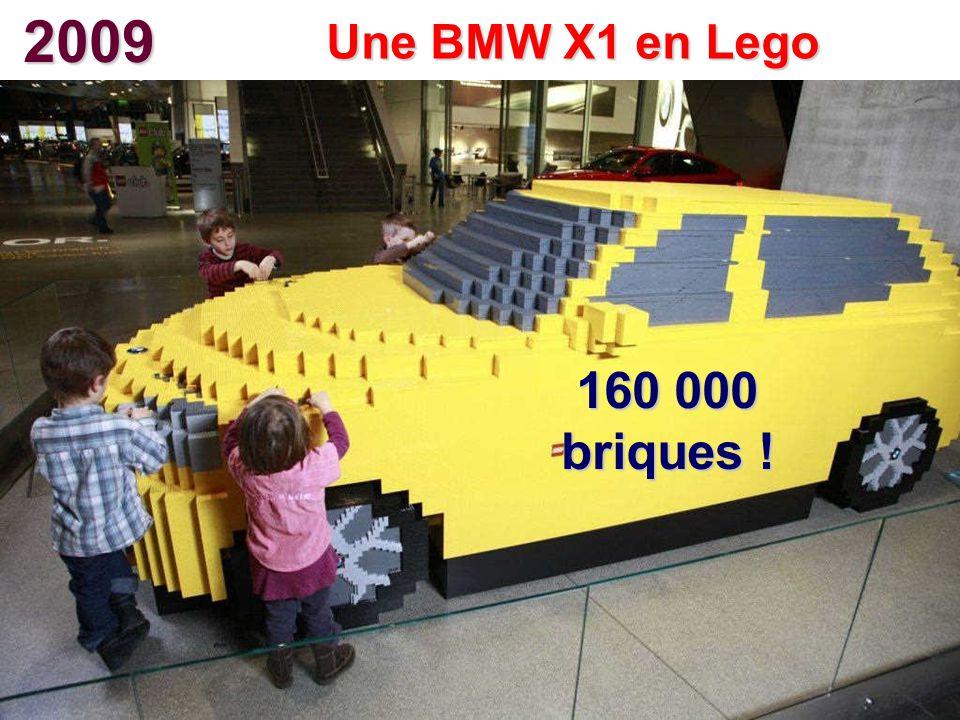 2009 Une BMW X1 en Lego 160 000 briques !