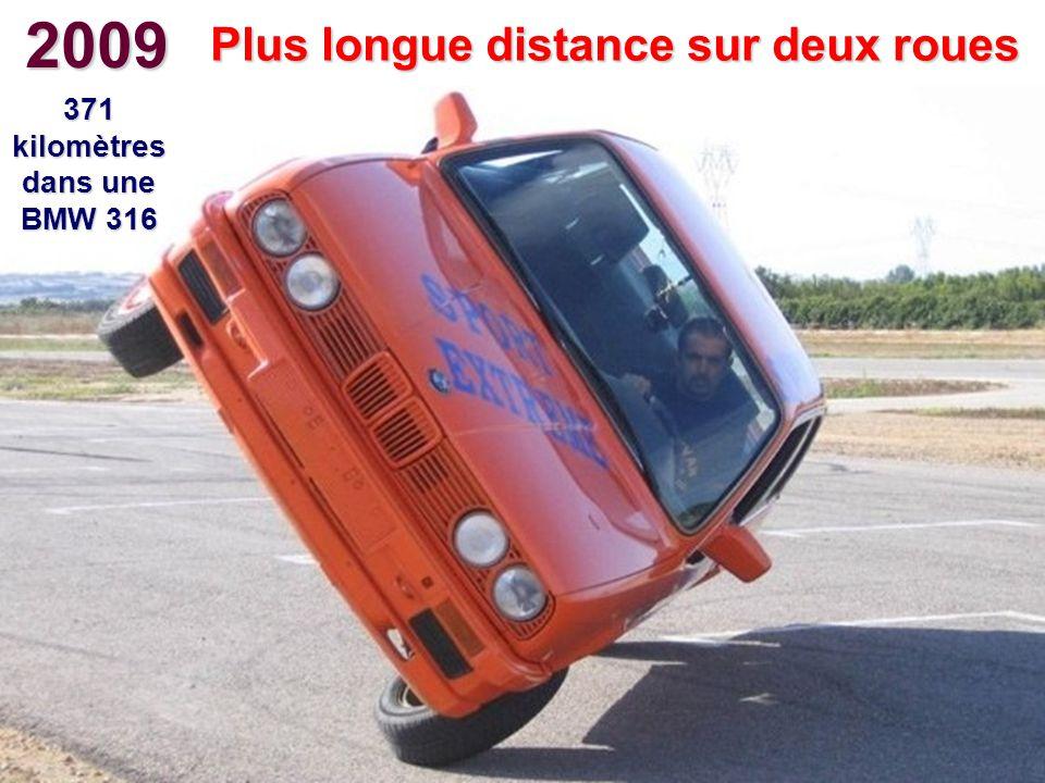 2009 Plus longue distance sur deux roues 371 kilomètres dans une BMW 316