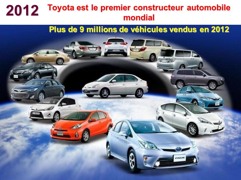 2012 Toyota est le premier constructeur automobile mondial Plus de 9 millions de véhicules vendus en 2012