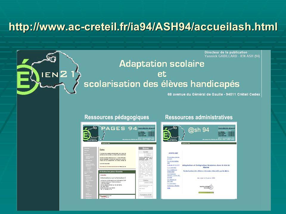 29 http://www.ac-creteil.fr/ia94/ASH94/accueilash.html