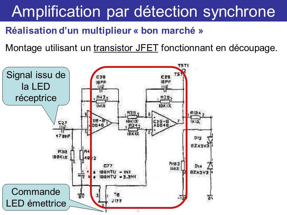 Amplification par détection synchrone Réalisation dun multiplieur « bon marché » Montage utilisant un transistor JFET fonctionnant en découpage.