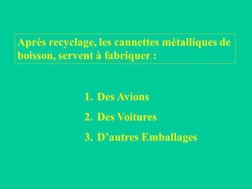 Combien de différentes couleurs de poubelles existent-ils ? 1. 2 couleurs 2. 4 couleurs 3. 8 couleurs