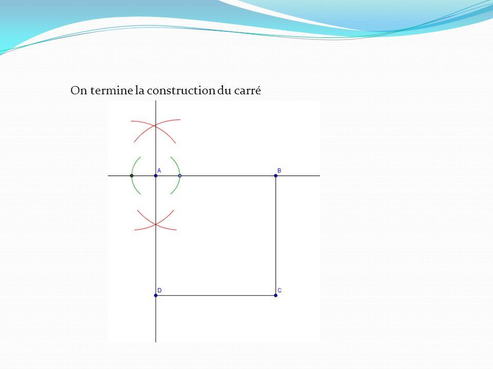 Autre méthode Laire du polygone sobtient en enlevant à laire au carré ABCD les triangles apparaissant en bleu, à savoir : - 4 fois laire du triangle FBG - 4 fois laire du triangle EFP Or, laire de EFP est égale à : EF x MP / 2 =4 x 2 / 2 = 4 cm² Laire de FBG est égale à : FB x BG / 2 = 4 x 4 / 2 = 8 cm² Laire du carré ABCD est égale à 12 x 12 = 144 cm² Doù laire du quadrilatère : 144 – 4 x 4 – 4 x 8 = 144 – 16 – 32 = 96 cm².