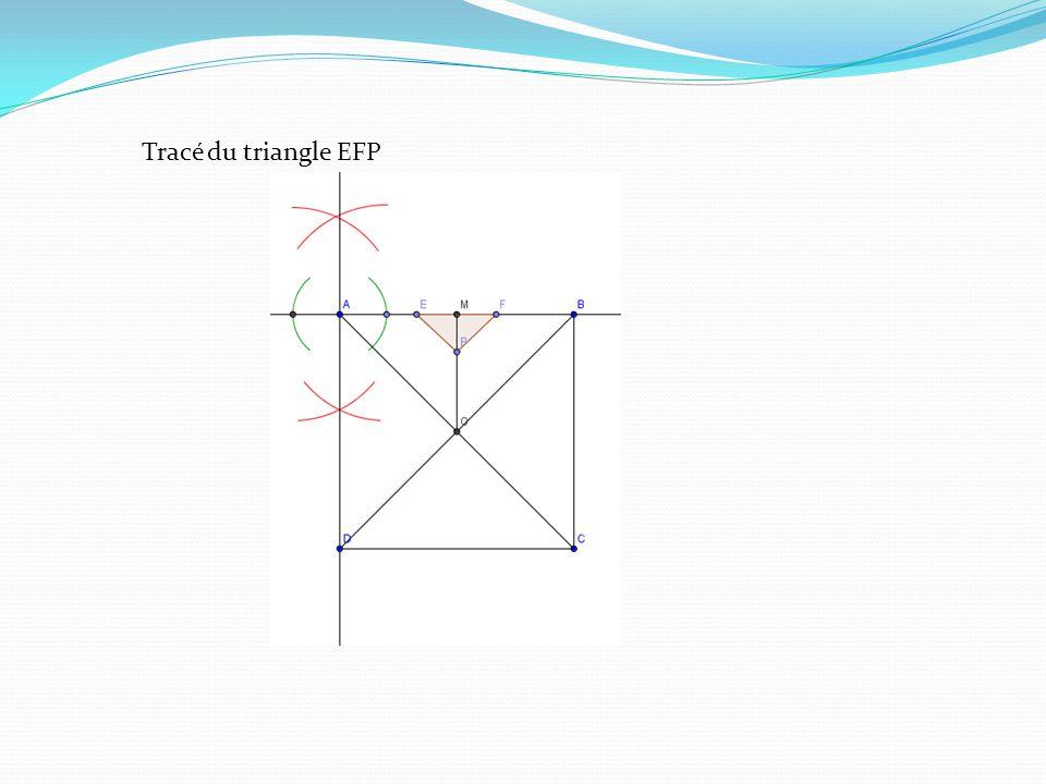 Tracé du triangle EFP