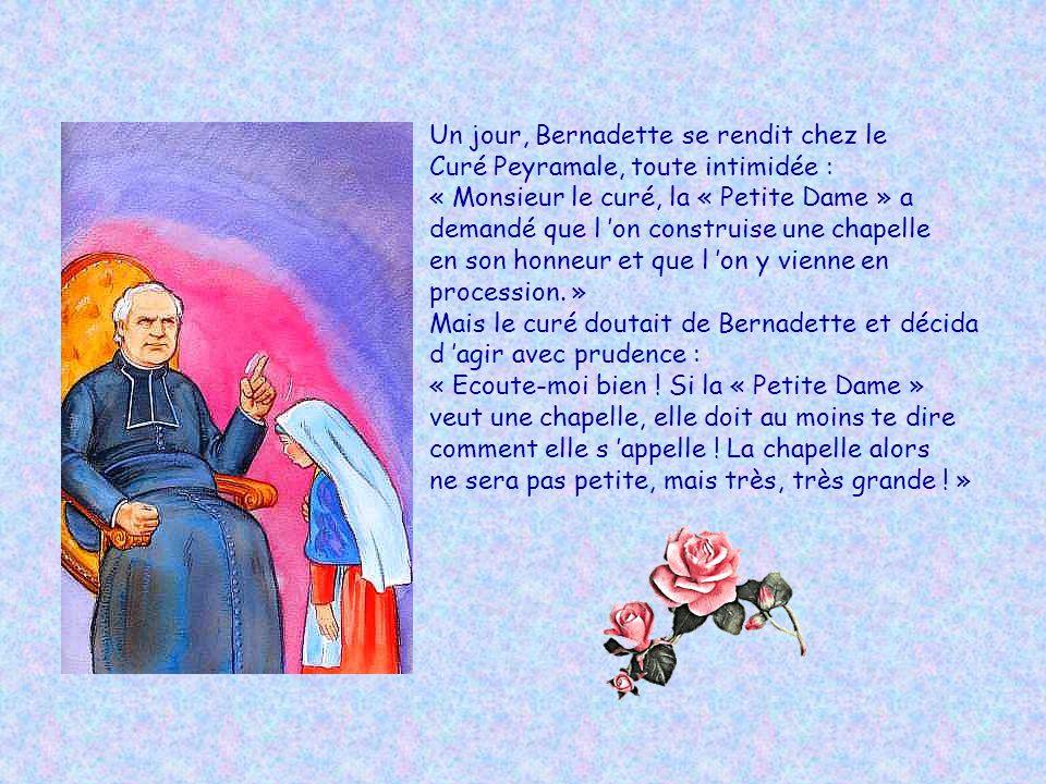 Le matin du 25 février, la « Petite Dame » demanda à Bernadette de faire une chose étrange : elle lui demanda de se laver et de boire à la source. « Q