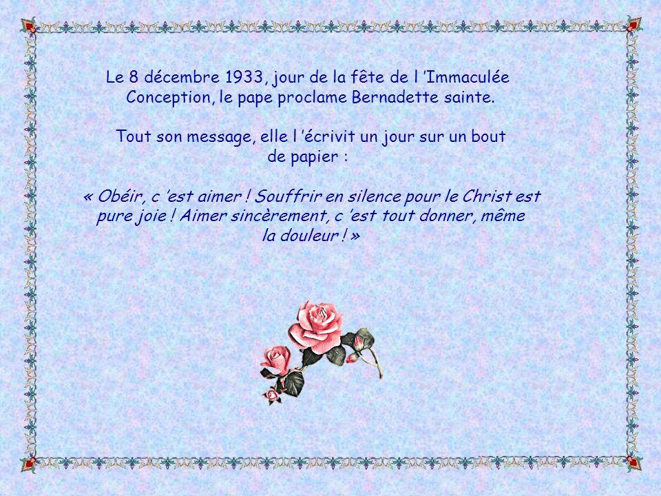 Elle fut, chez les Sœurs de Nevers, une religieuse incomprise, humiliée, mais toujours obéissante. L asthme et la tuberculose osseuse aux jambes la fo