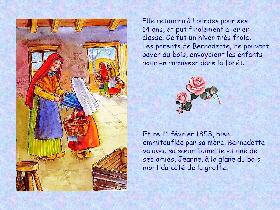 Elle retourna à Lourdes pour ses 14 ans, et put finalement aller en classe.