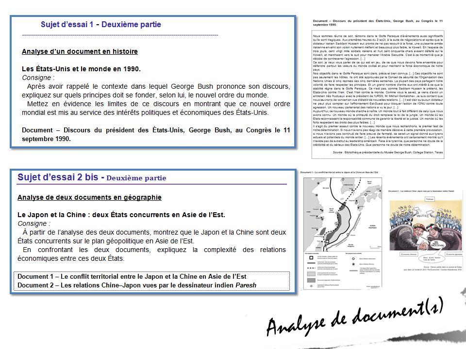 Indications sur les attentes Indications sur les attentes Les Etats-Unis et le monde en 1990 Les Etats-Unis et le monde en 1990 pour consigne 1 (contexte, principes NOM) pour consigne 2 (limites du discours)