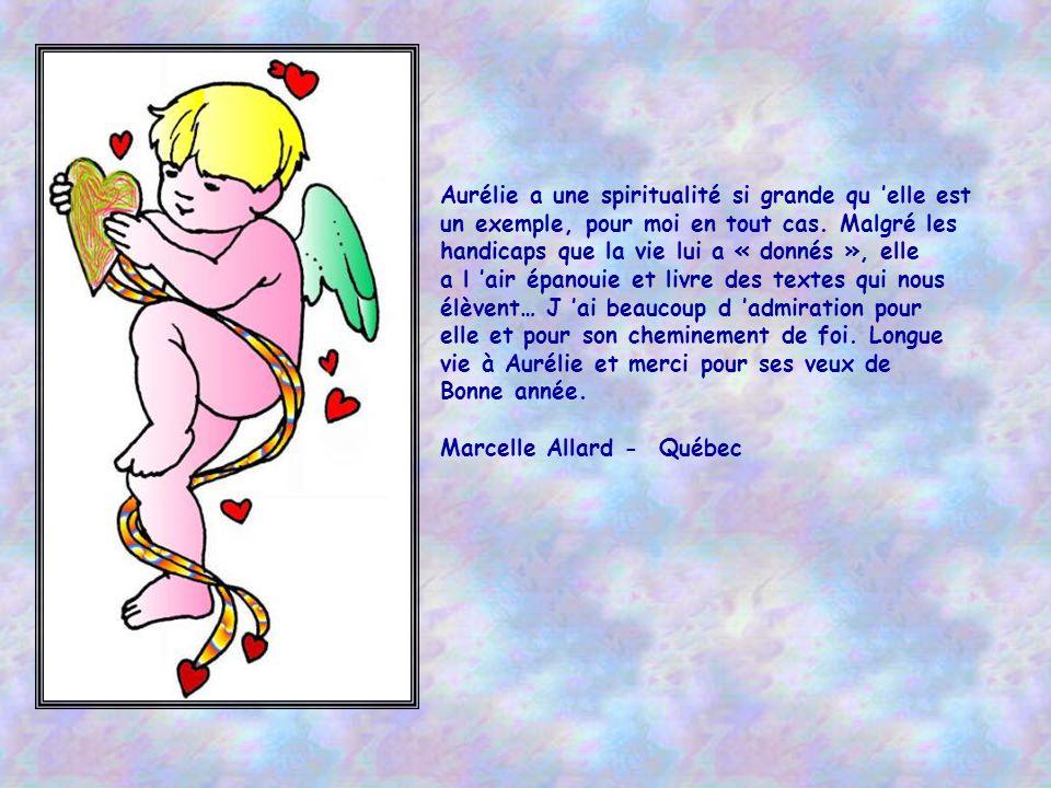 Aurélie pour moi c'est un petit oiseau de pureté ! Elle est réconfort, exemple de bonté et tellement inspirante ! elle est un exemple de force aussi.