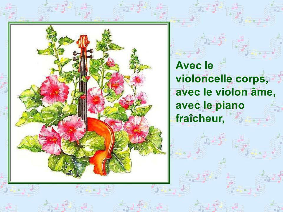 Comme les gouttes notes du piano, la fraîcheur du jardin dEden sépandait sur nous.