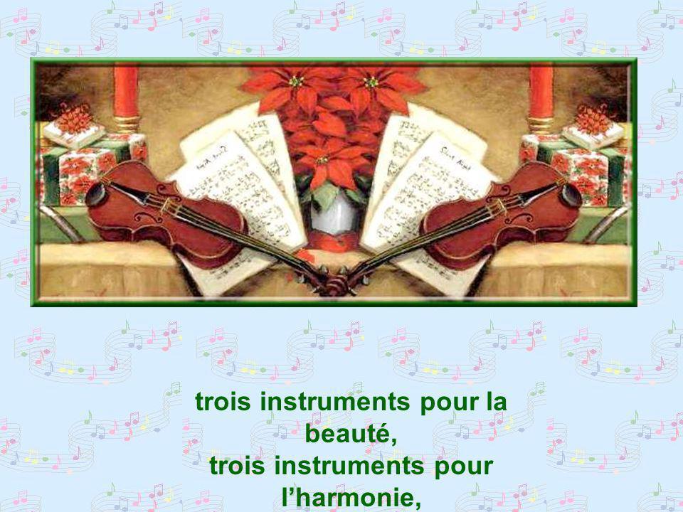 Violoncelle, violon, piano… Violoncelle, violon, piano, trois instruments pour une trinité,