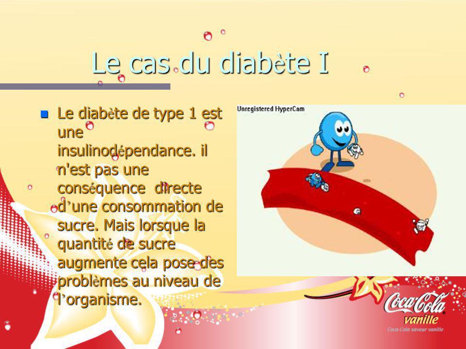 Le cas du diab è te I n Le diab è te de type 1 est une insulinod é pendance. il n'est pas une cons é quence directe d une consommation de sucre. Mais