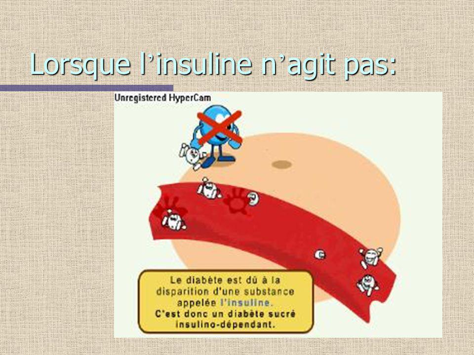 Lorsque l insuline n agit pas: