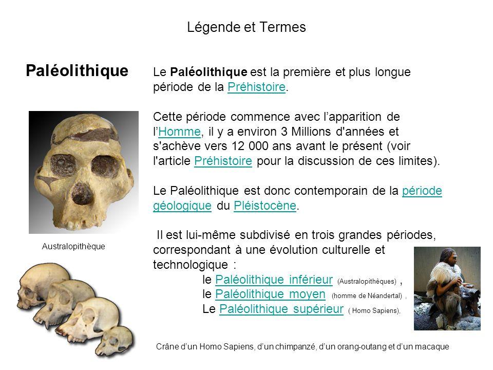 Légende et Termes Paléolithique L'Âge du Bronze est une période de la Protohistoire européenne caractérisée par l'usage de la métallurgie du bronze, n