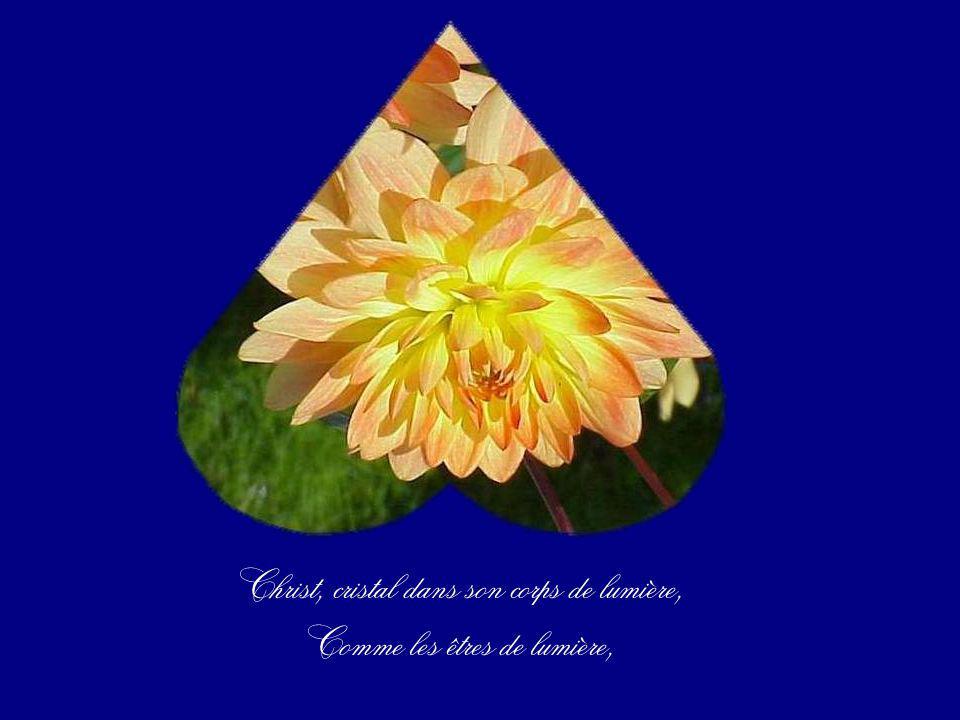 Ton corps devenu cristal, Ton corps devenu christal, Christal en toi, sa divinité maintenant.