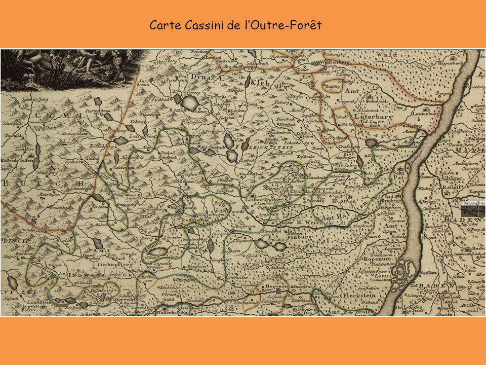 Carte Cassini de lOutre-Forêt