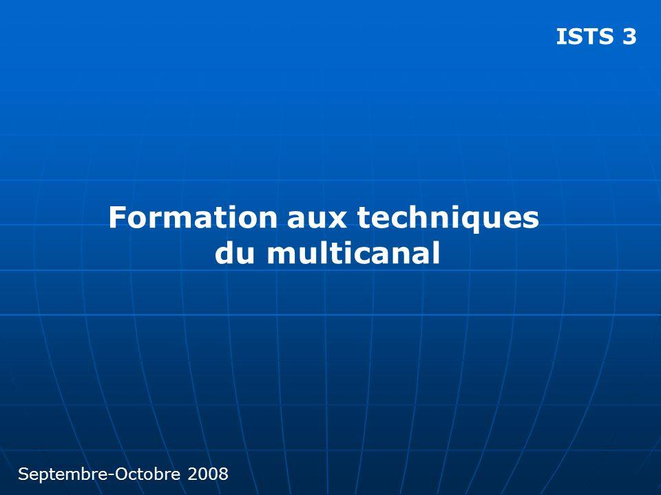 ISTS 3 Formation aux techniques du multicanal Septembre-Octobre 2008