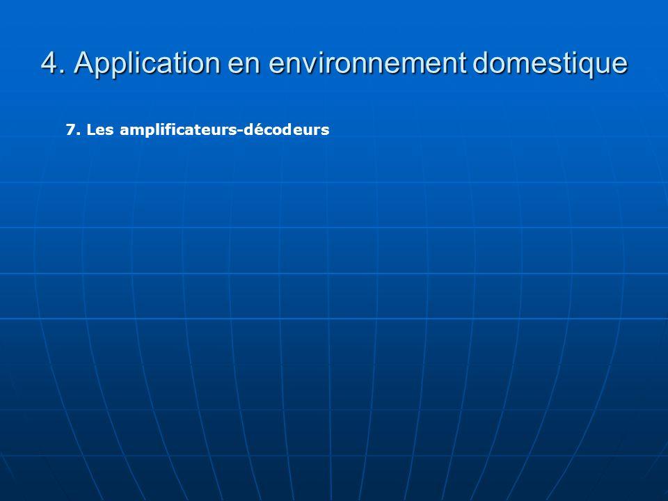 4. Application en environnement domestique 7. Les amplificateurs-décodeurs
