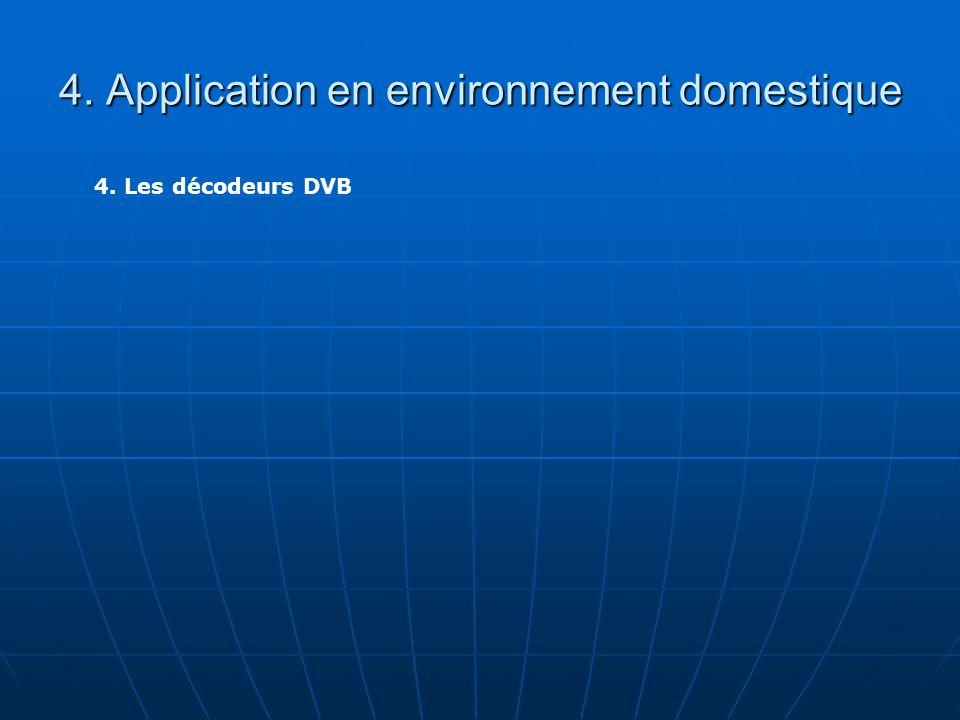 4. Application en environnement domestique 4. Les décodeurs DVB