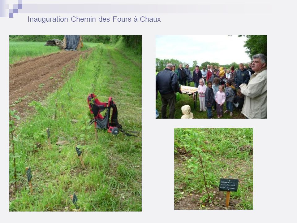 Inauguration Chemin des Fours à Chaux