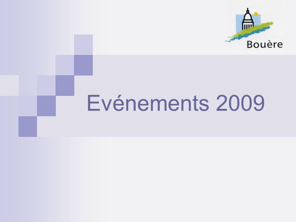Evénements 2009