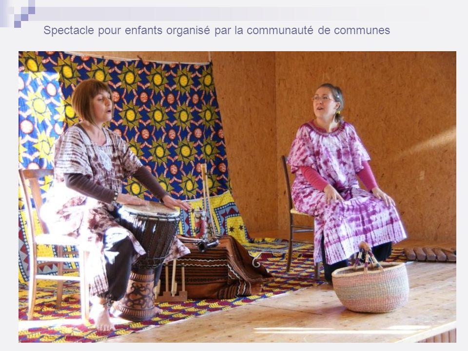 Spectacle pour enfants organisé par la communauté de communes