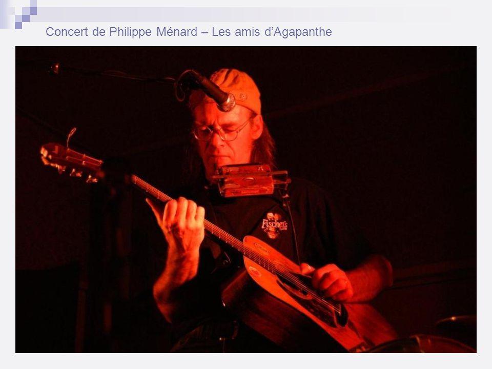 Concert de Philippe Ménard – Les amis dAgapanthe