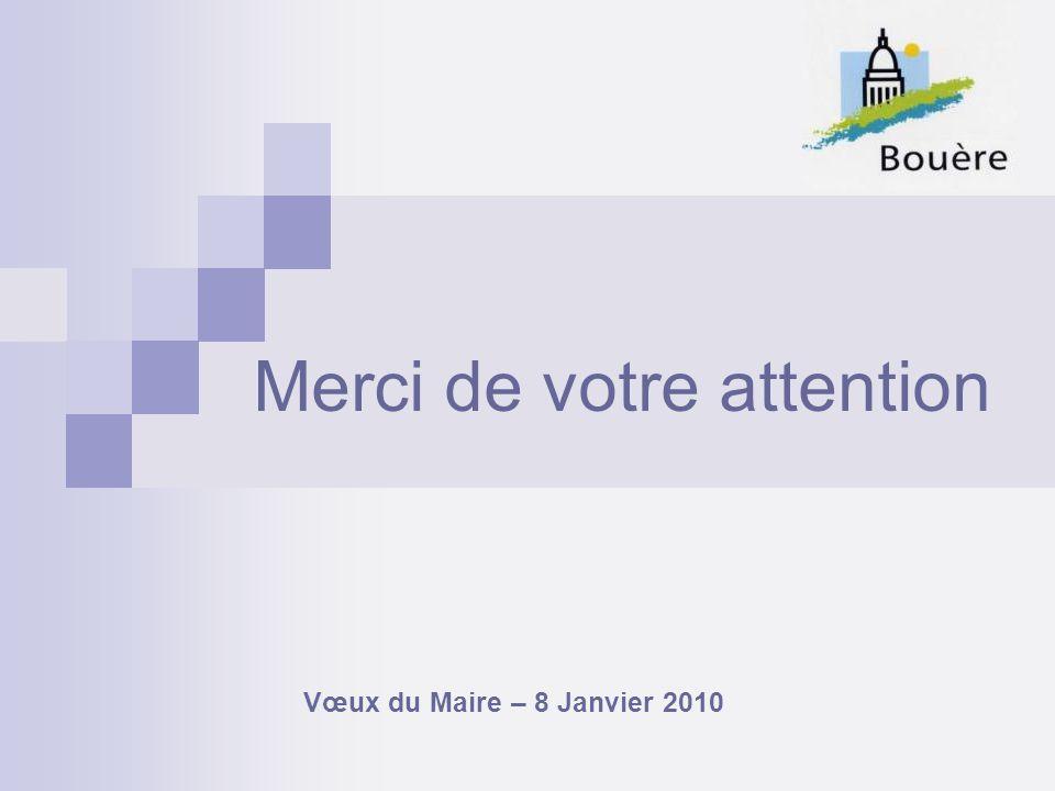 Merci de votre attention Vœux du Maire – 8 Janvier 2010