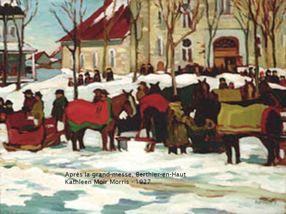 Paysage dhiver avec un cheval tirant un traîneau James Wilson Morrice – vers 1896