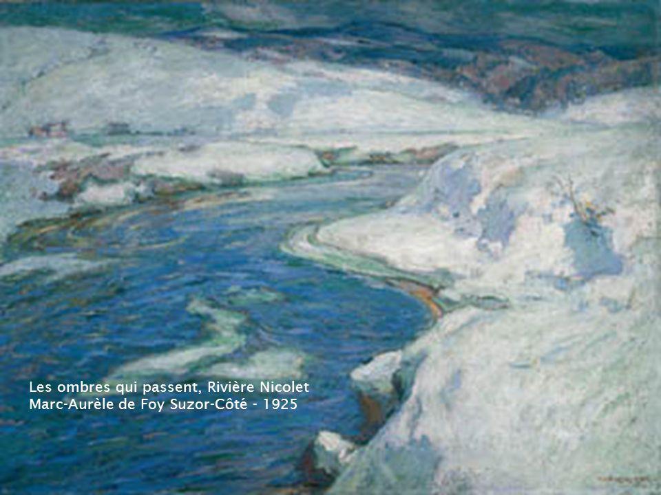Paysage de fin dhiver, Rivière Gosselin – 1918 Marc-Aurèle de Foy Suzor-Côté