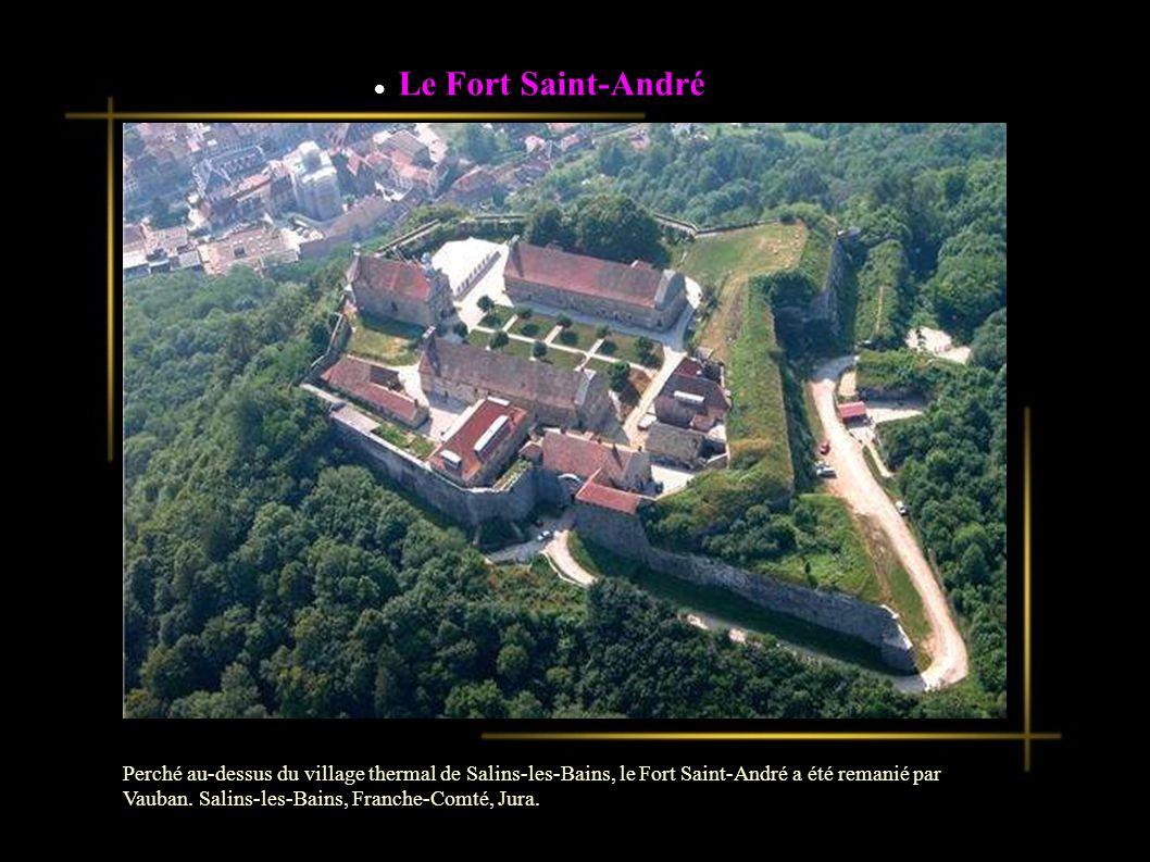 Le Fort Saint-André Perché au-dessus du village thermal de Salins-les-Bains, le Fort Saint-André a été remanié par Vauban.