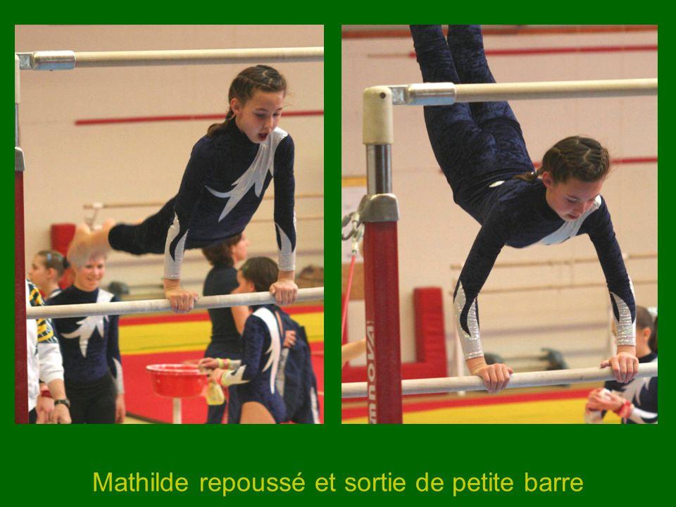 Mathilde repoussé et sortie de petite barre