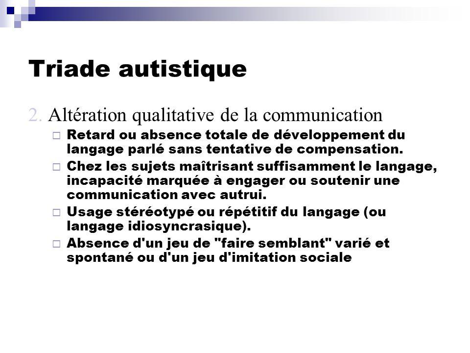 Triade autistique 2.