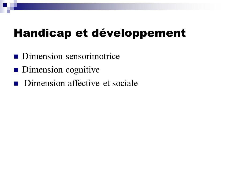 AffectifCognitifMoteur Option A handicap auditif ++++++ Option B handicap visuel ++++++ Option C handicap moteur +++++ Option D troubles des fonctions cognitives +++ +