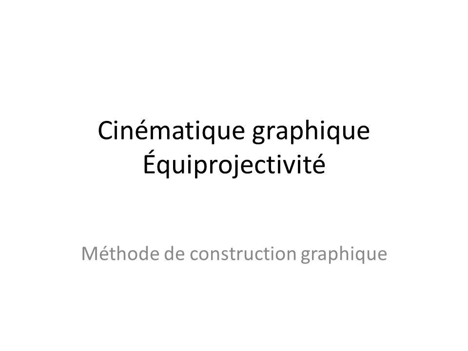 Cinématique graphique Équiprojectivité Méthode de construction graphique