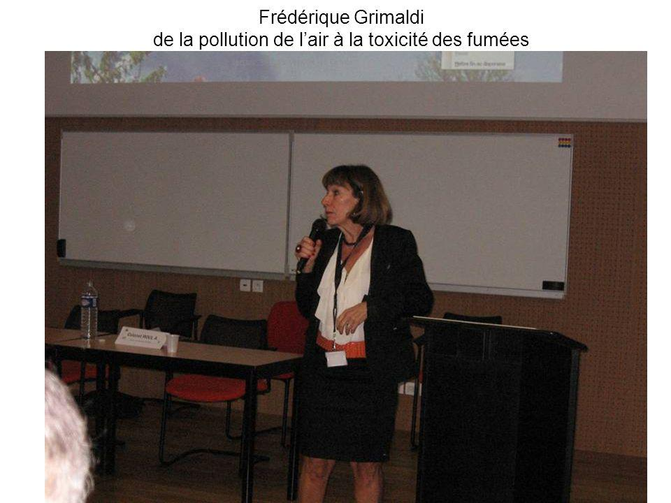 Frédérique Grimaldi de la pollution de lair à la toxicité des fumées