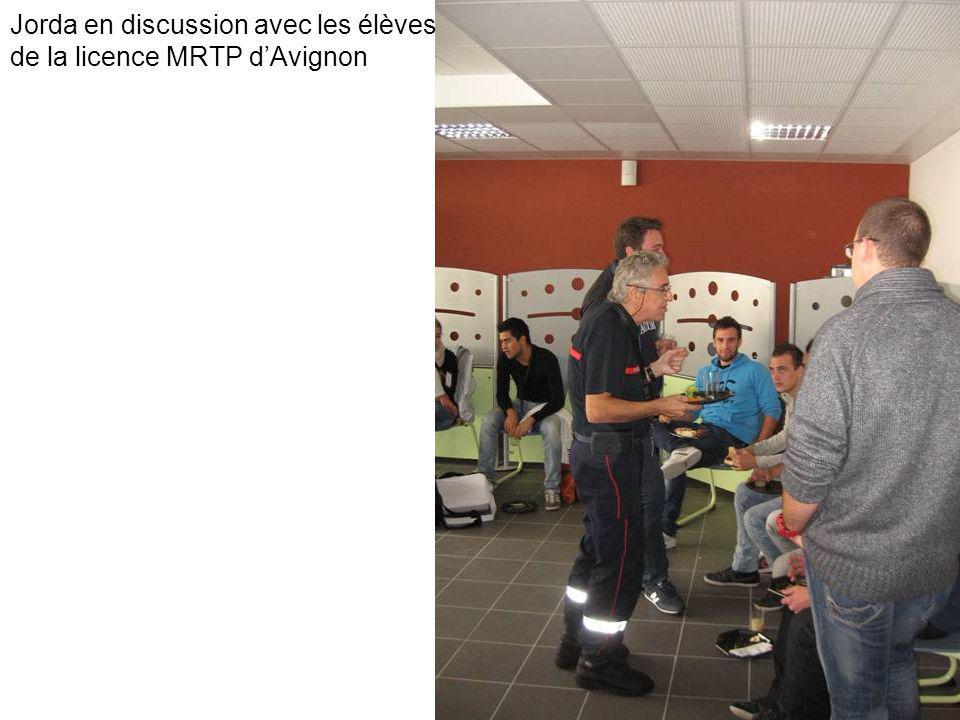 Jorda en discussion avec les élèves de la licence MRTP dAvignon