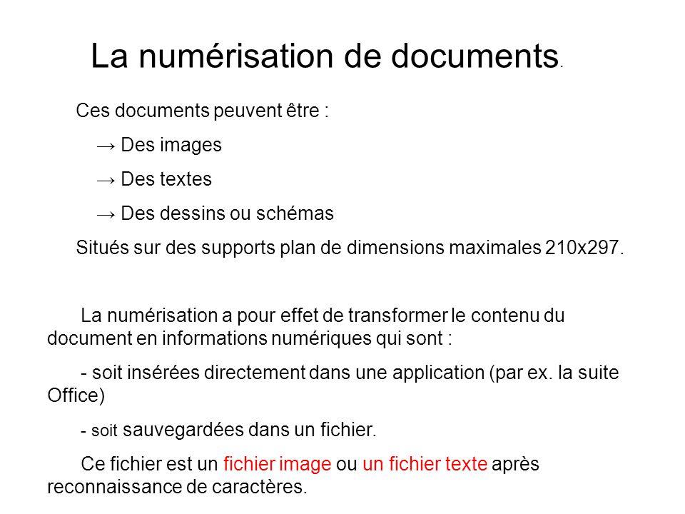 Ces documents peuvent être : Des images Des textes Des dessins ou schémas Situés sur des supports plan de dimensions maximales 210x297.