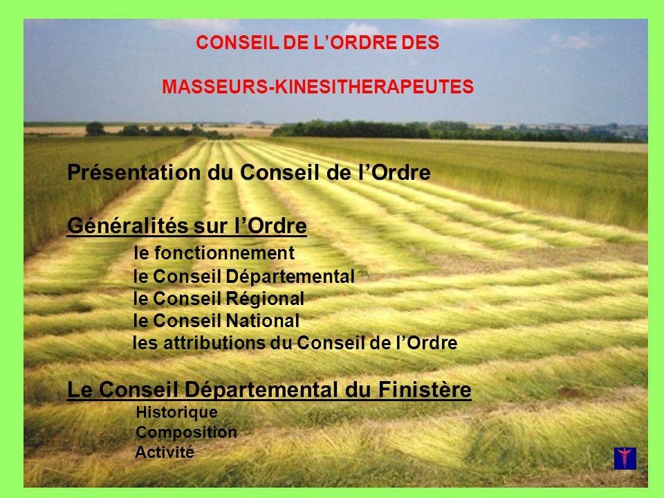 Le Conseil de lOrdre des Masseurs-Kinésithérapeutes-Rééducateurs TOUTES LES INFOS DE LORDRE SUR LES SITES www.cnomk.org www.omkr29.eu + Le Forum du CDO