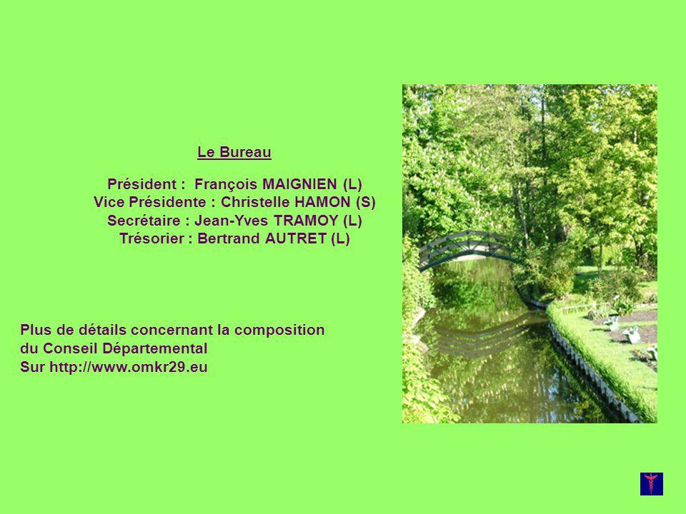 Le Bureau Président : François MAIGNIEN (L) Vice Présidente : Christelle HAMON (S) Secrétaire : Jean-Yves TRAMOY (L) Trésorier : Bertrand AUTRET (L) P