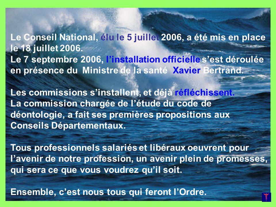 Le Conseil National, élu le 5 juillet 2006, a été mis en place le 18 juillet 2006. Le 7 septembre 2006, linstallation officielle sest déroulée en prés
