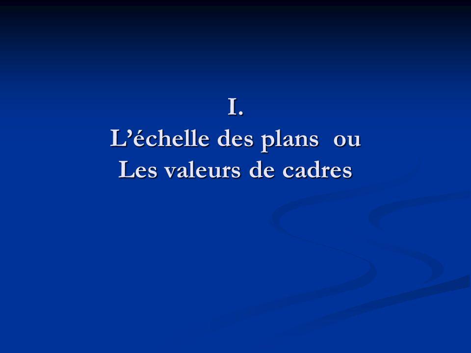 I. Léchelle des plans ou Les valeurs de cadres